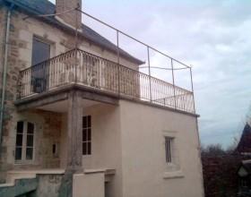 Balcon terrasse en fer forgé